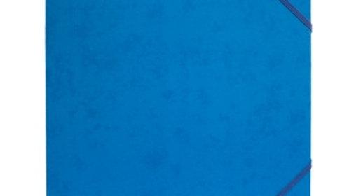 Gummisnoddmapp A4 blå i papp 3-klaffar Docusmart