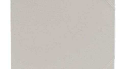 Gummisnoddmapp A4 vit i papp 3-klaffar Docusmart
