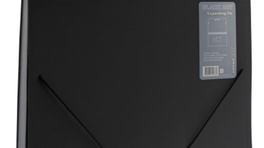 Hemarkiv A4 BLACK 13-fack svart