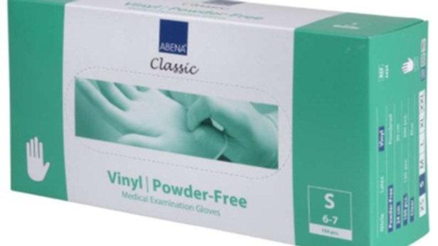 Handskar vinyl puderfria S transp 100st/fp