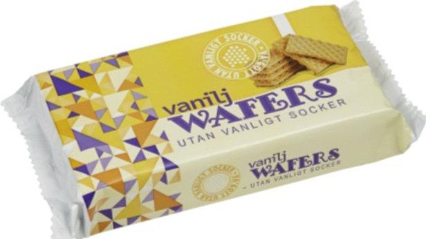 Vanilj Wafeers utan vanligt socker 125 g