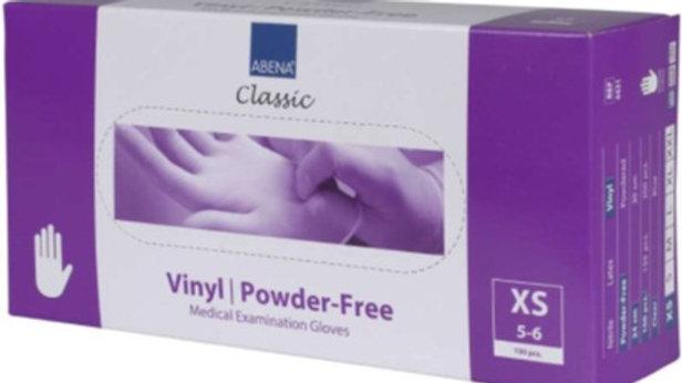 Handskar vinyl puderfria XS transp 100st/fp