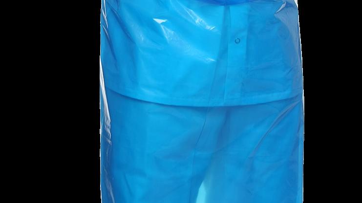 Förkläde engångs 80 x 140 cm, LDPE 40 my blå extra kraftig 50 st/påse
