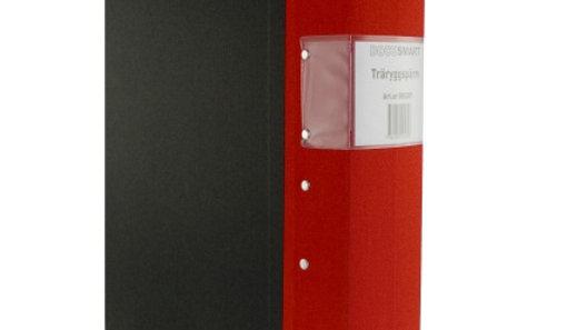 Pärm A4 röd 80mm trärygg