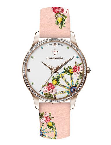 Orologio Glamour 'A rosa