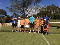 Professores e alunos tênis Campinas