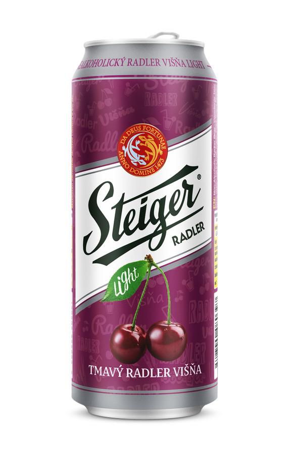 Вишнёвый радлер на основе тёмного безалкогольного Штайгера