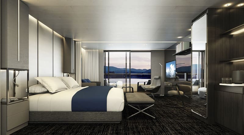 Scenic-Eclipse-Deluxe-Verandah-Suite-Bed