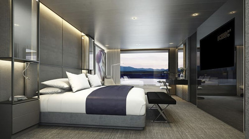 Scenic Eclipse  Grand Panorama Suite Bed