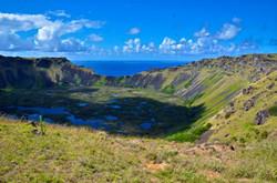 復活島上最大的火山口