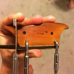 A Frisch and Denig custom violin chinres