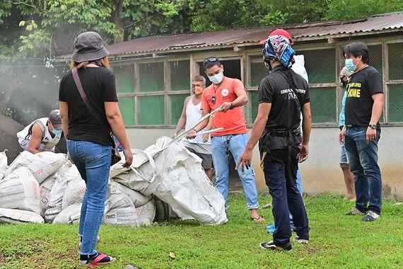 Pulong donates construction materials to Baptist Church in brgy. Bago Gallera
