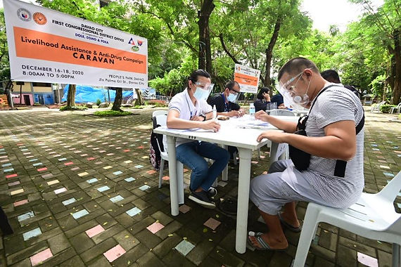 First Congressional District's  Livelihood Assistance and Anti-Drug Campaign Caravan kicks-off