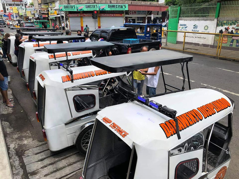 Trike mobile patrol distributed to first district barangays (May 2020).