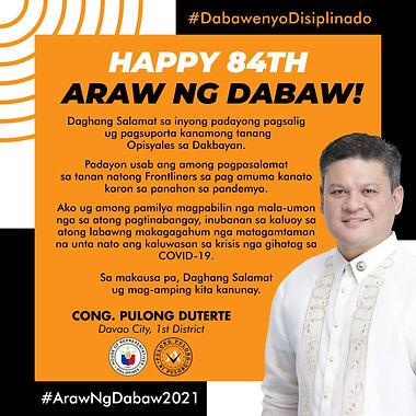 84th Araw ng Dabaw Message
