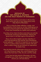 A Message on the Holy Month of Ramadan