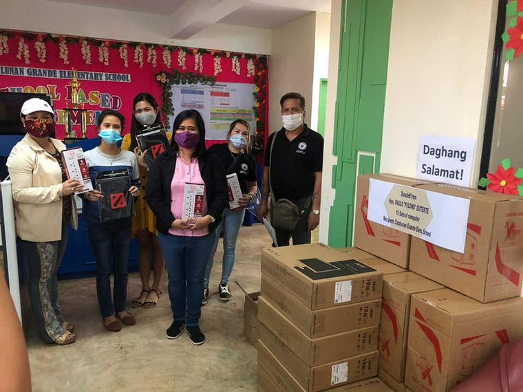 Turnover of 10 units of PC to Catalunan Grande Elementary School.