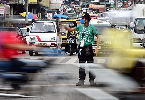 First District Office gives rice, cash aid to Davao City traffic law enforcers