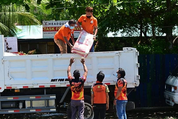 First District Office distributes rice aid to law enforcers in Davao City