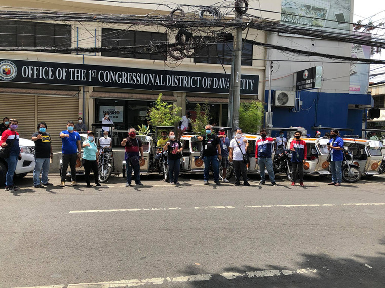 Distribution of trike mobile patrol & motorcycles to 54 barangay captains (May 2020).