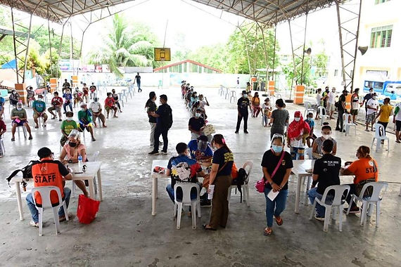 First Congressional District Office extends help to fire victims in Barangay Tibungco, Bunawan