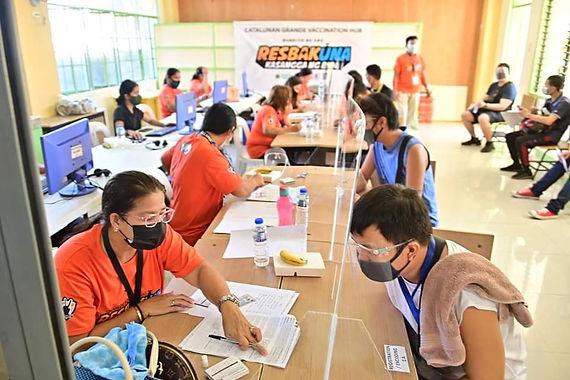 Catalunan Grande through PB January N. Duterte launched its Barangay Vaccination Hub
