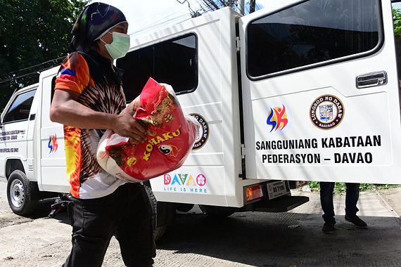 Brgy. officials, councilors get relief goods from First Congressional District Office