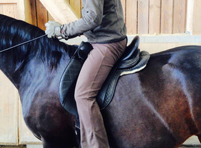 Das Regulieren des Reitergewichtes