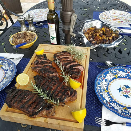 Steak with Bonacci EVOO
