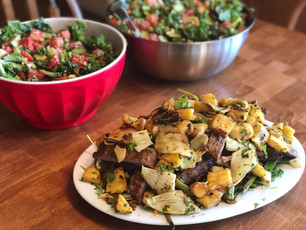 Grilled Grassfed Steak Salad w/ Fennel & Pineapple