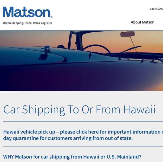 MAUI CAR SHIPPING