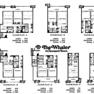 Whaler Floorplans