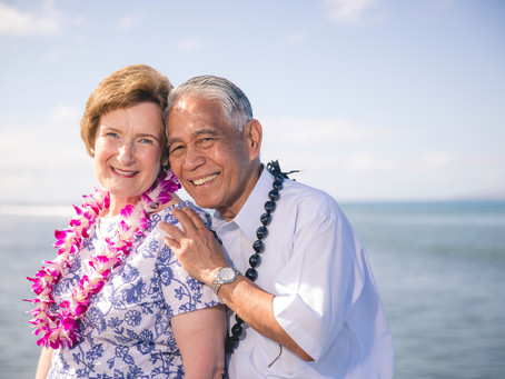 Happy 50th anniversary! A Maui family photography session to remember . . .