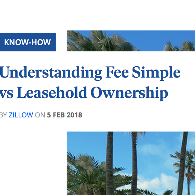 FEE SIMPLE VS. LEASEHOLD