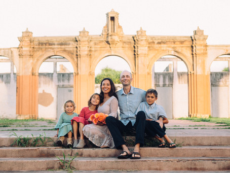 Looking for a unique backdrop? Visit Old Maui High for a twist on traditional family photography!
