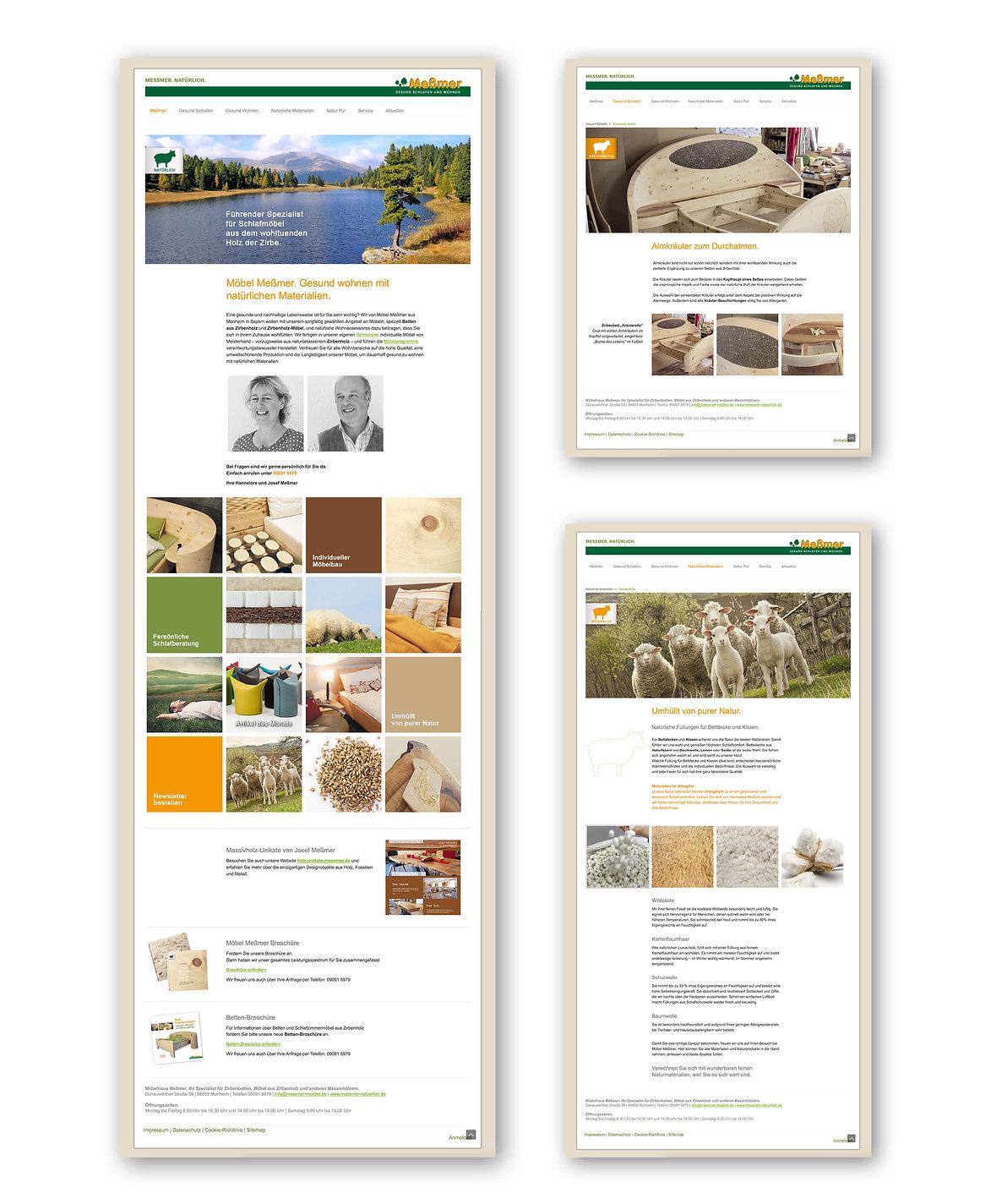 Webseite Möbel Meßmer | Schreiner | Zirbenmöbel