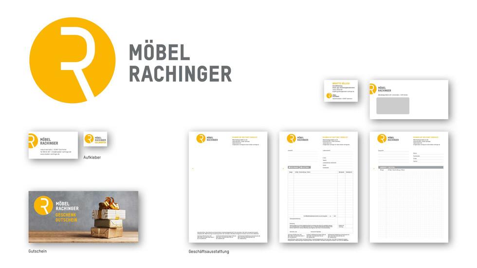 Corporate Design Möbel Rachinger Solnhofen – Geschäftsausstattung