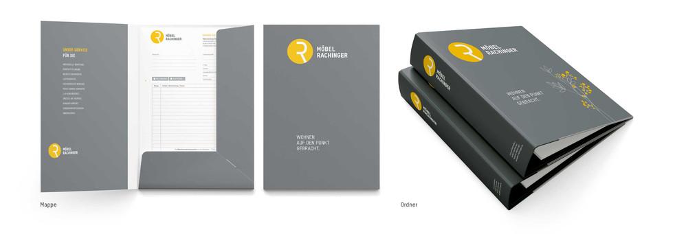 Corporate Design Möbel Rachinger Solnhofen – Mappe und Ordner
