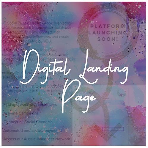 Digital Landing Page