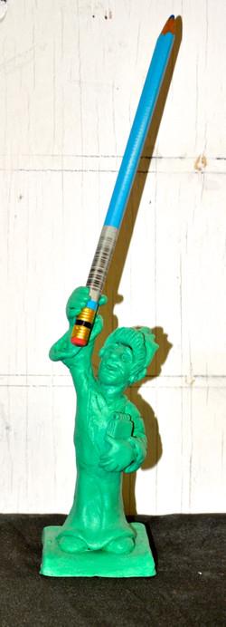 Fishman of Liberty Pencil Holder