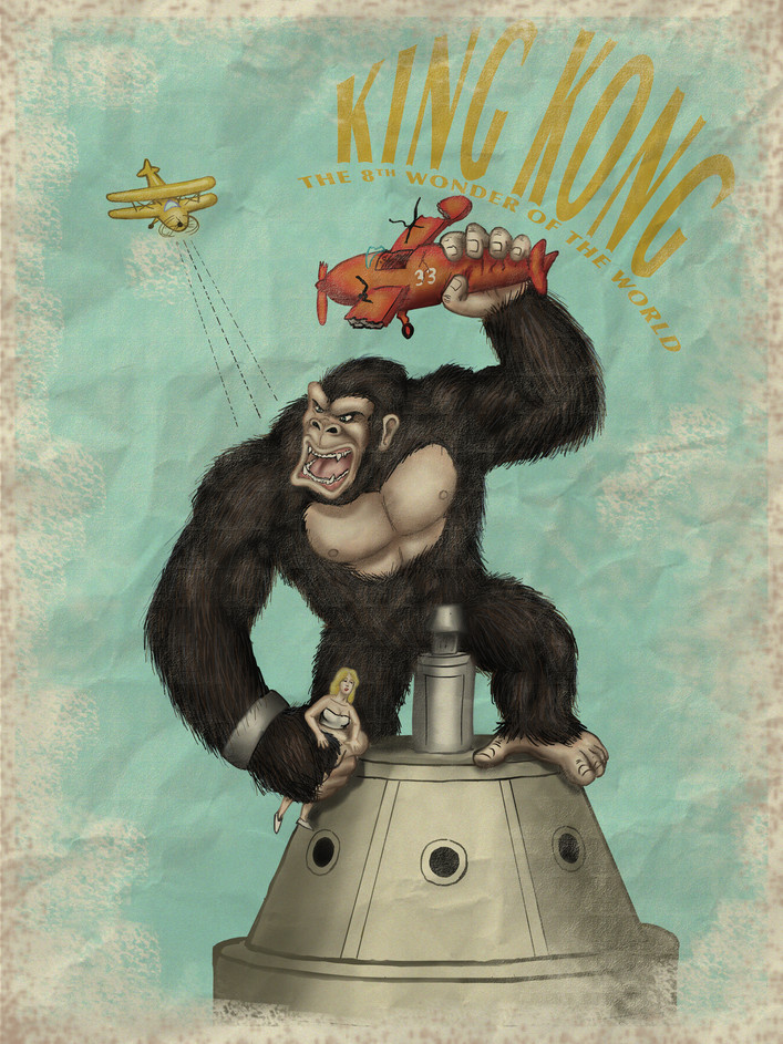 King Kong Retro Poster (2018)