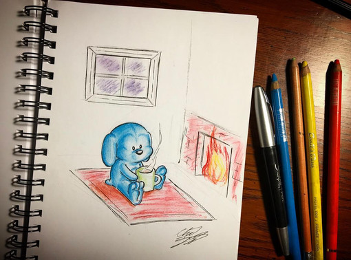 Blue Pup with Cocoa (2019)