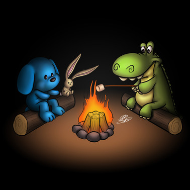 Pup Moments: End Of Summer Campfire (Sep