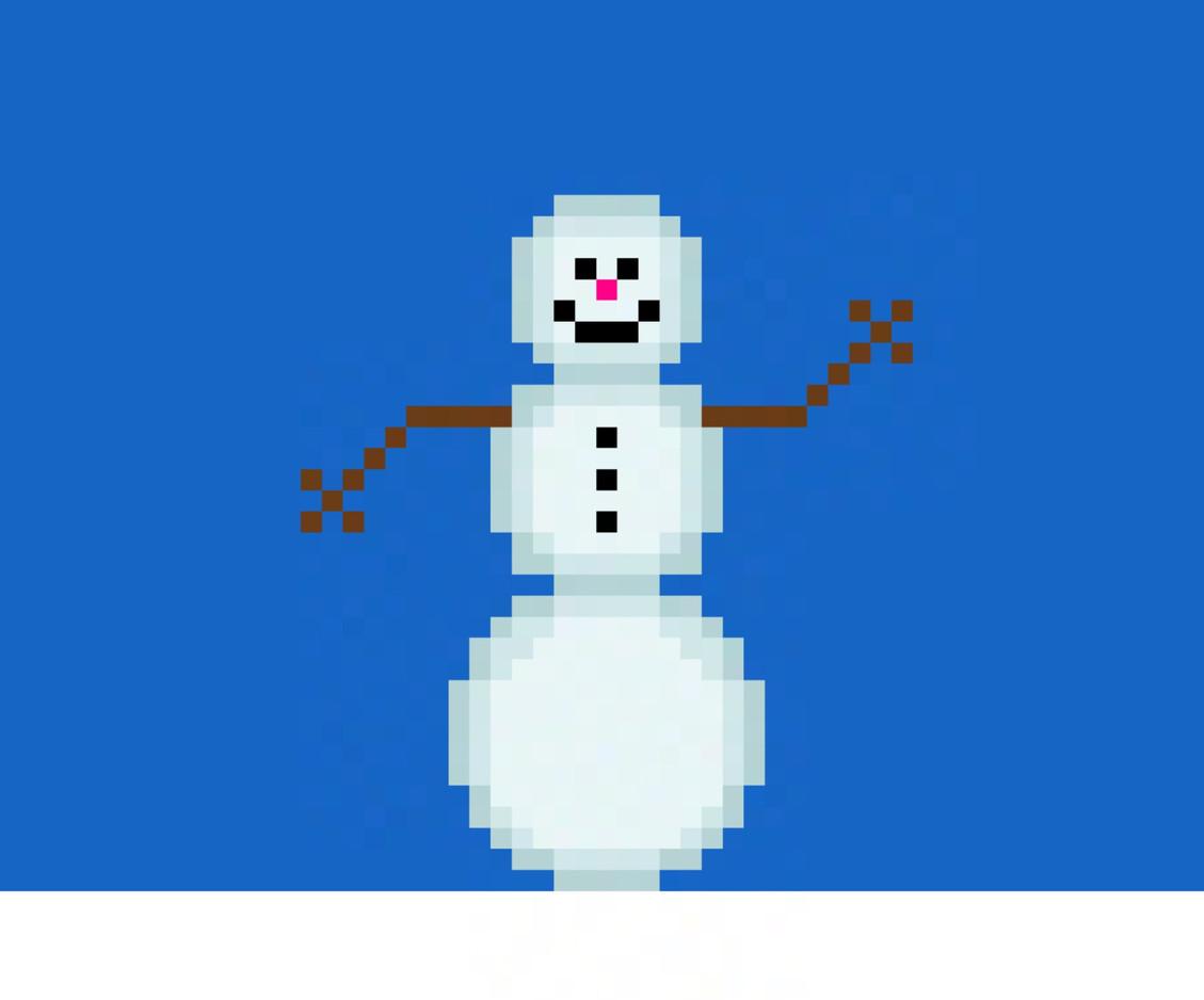 8-Bit Snowman (Dec. 20th, 2020)