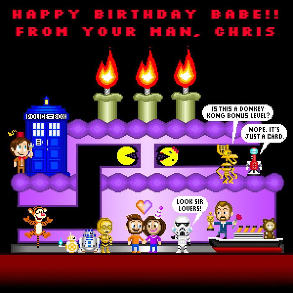 Mary's 8-Bit Birthday Card (August 2019)