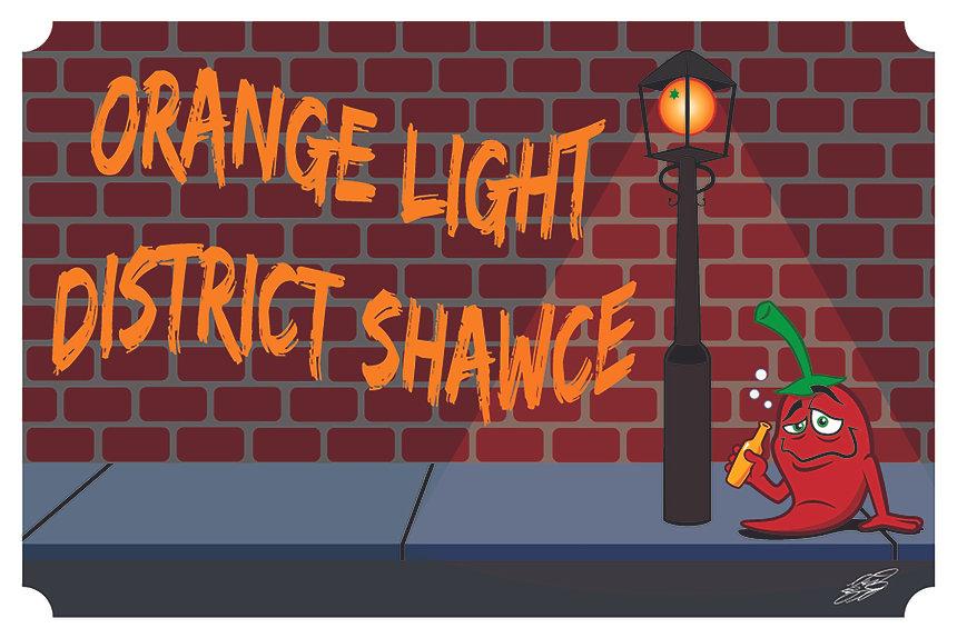 Orange Light District - Hot Sauce Label