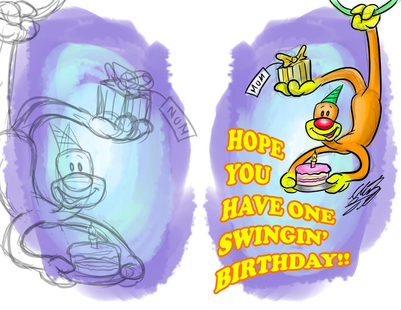 One Swingin' Birthday Card (2019)