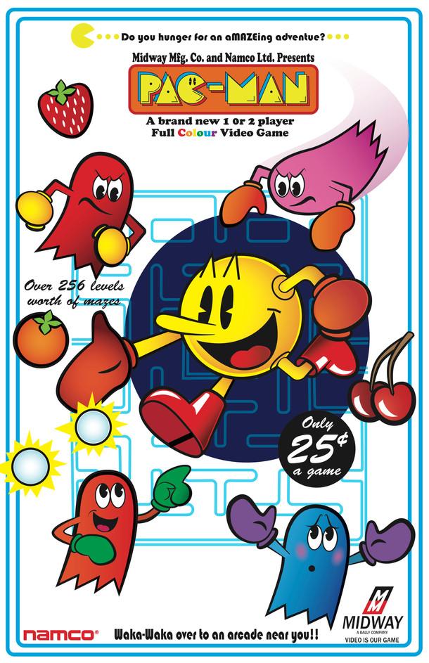 Pac-Man Retro Poster (2015)