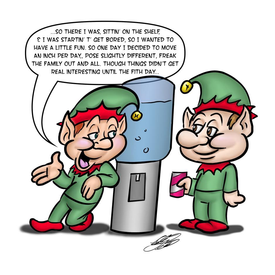 Elves at the Cooler (Dec. 2nd 2020)