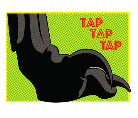 JP Retro Comic Art - Raptor Foot (2018)